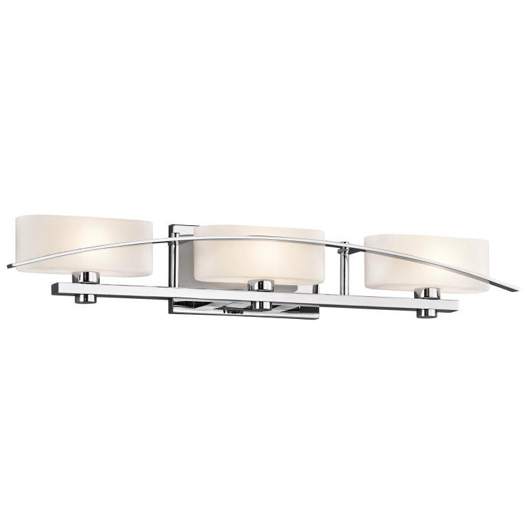 Modern Vanity Lighting Chrome : Kichler 45317CH Suspension Contemporary Chrome Finish 5