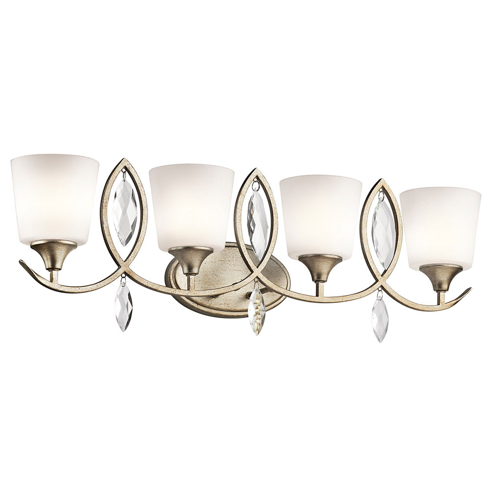 Bathroom Vanity Lights Kichler kichler 45373sgd casilda sterling gold 4-light bathroom vanity