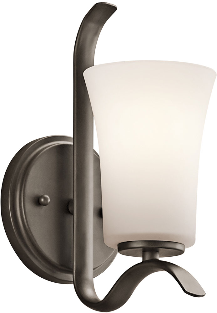Led Bronze Wall Sconces : Kichler 45374OZL16 Armida Contemporary Olde Bronze LED Wall Sconce Lighting - KIC-45374OZL16