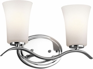 Kichler 45375CHL16 Armida Modern Chrome LED 2-Light Bathroom Lighting Fixture