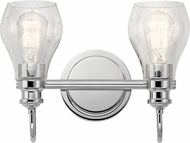 Kichler 45391CH Greenbrier Contemporary Chrome 2-Light Bath Light Fixture