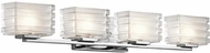 Kichler 45480CH Bazely Contemporary Chrome Halogen 4-Light Bath Lighting Fixture