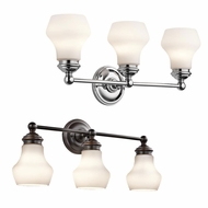 Kichler 45488 Currituck 23.25  Wide 3 Light Bathroom Light Sconce