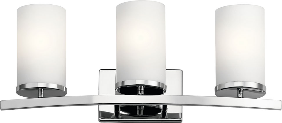 Kichler 45497ch Crosby Modern Chrome 3 Light Bathroom Vanity Light Fixture Kic 45497ch