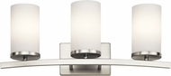 Kichler 45497NI Crosby Contemporary Brushed Nickel 3-Light Bathroom Wall Sconce