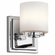 Kichler 45500CH O Hara Chrome Finish 5  Wide Halogen Wall Lighting Fixture