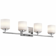 Kichler 45503CH O Hara Chrome Finish 6.25  Tall Halogen 4 Light Bathroom Lighting