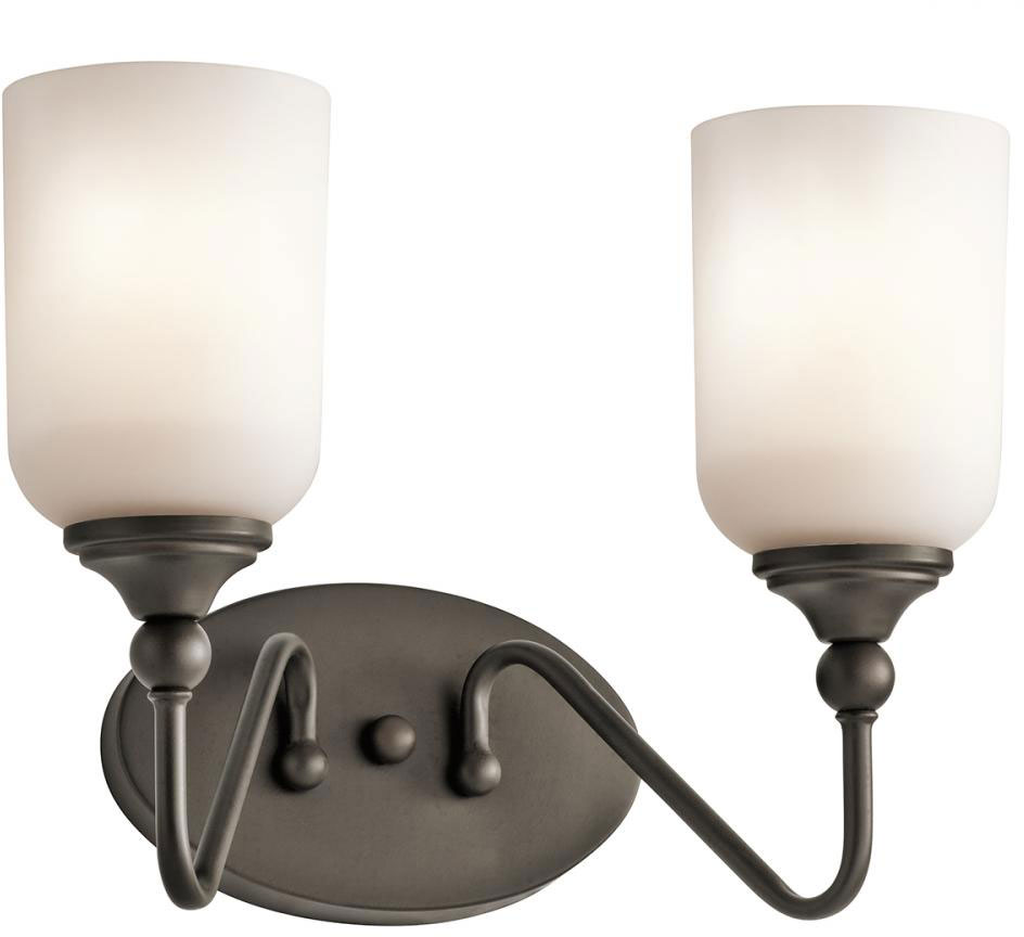 Bathroom Vanity Lights Kichler kichler 45551oz lilah olde bronze 2-light bathroom vanity light
