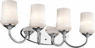 Kichler 45571CHL16 Aubrey Chrome LED 4-Light Bathroom Lighting Fixture
