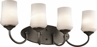 Kichler 45571OZL16 Aubrey Olde Bronze LED 4-Light Vanity Light