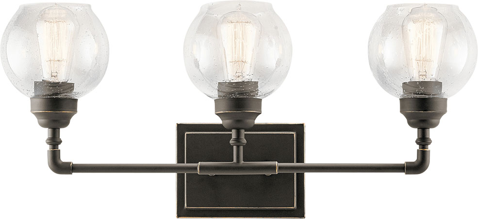 Kichler 45592OZ Niles Contemporary Olde Bronze 3 Light Bathroom Vanity  Lighting. Loading Zoom