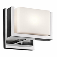 Kichler 45601CH Keo Contemporary Chrome Halogen Lighting Wall Sconce