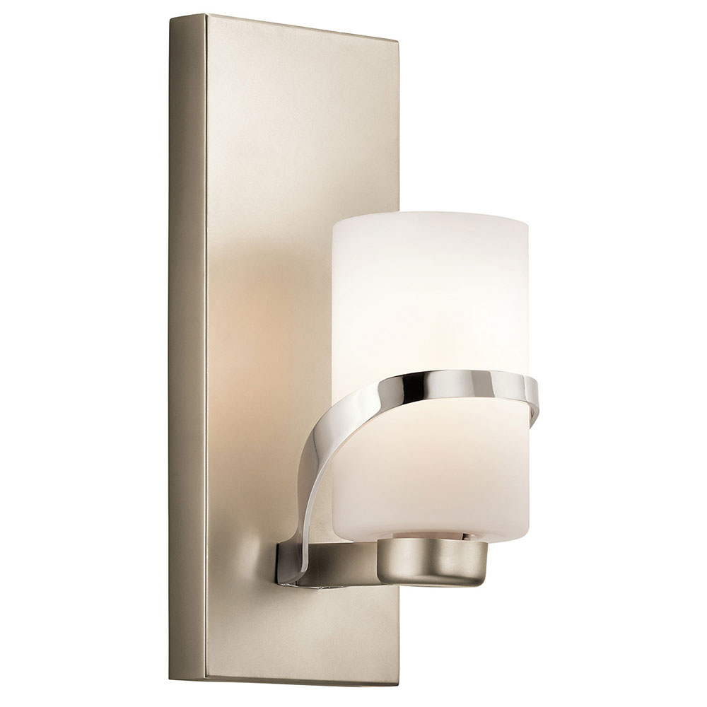 Wall Sconces Modern Contemporary : Kichler 45627PN Stelata Contemporary Polished Nickel Wall Lighting Sconce - KIC-45627PN