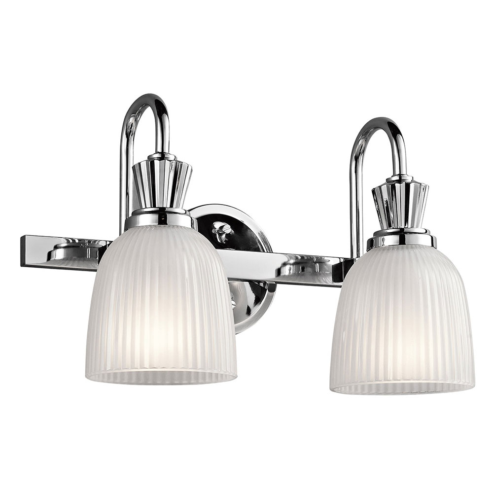 Bathroom Vanity Lights Kichler kichler 45642ch cora chrome 2-light bathroom vanity light - kic