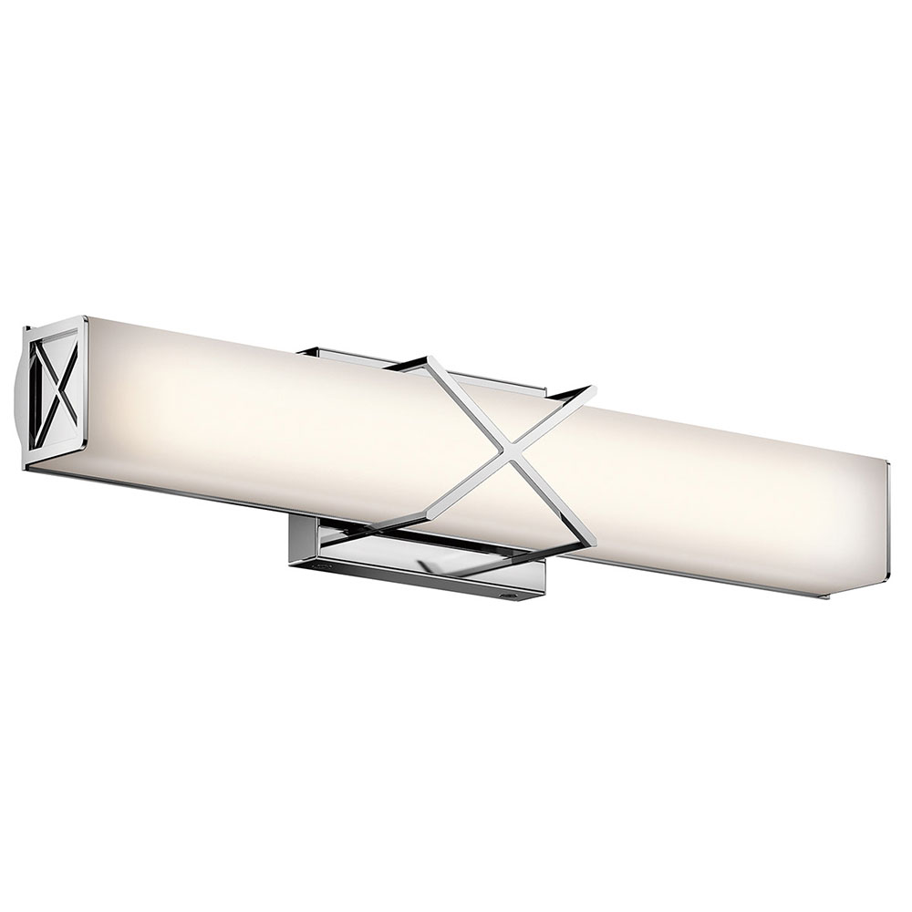 Modern Vanity Lighting Chrome : Kichler 45657CHLED Trinsic Modern Chrome LED 22