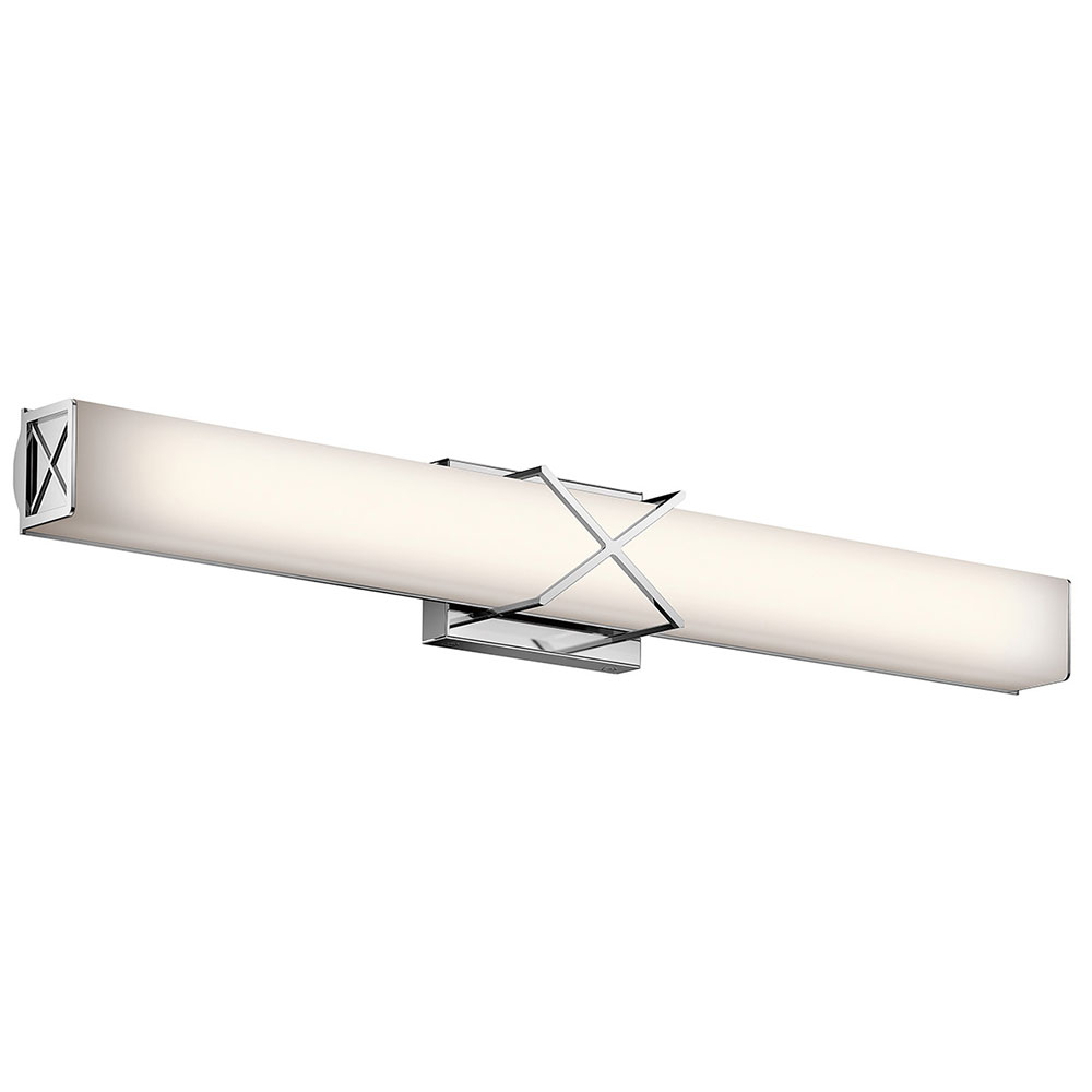 Kichler 45658chled Trinsic Contemporary Chrome Led 32 Nbsp Bathroom Vanity Light Fixture Loading Zoom