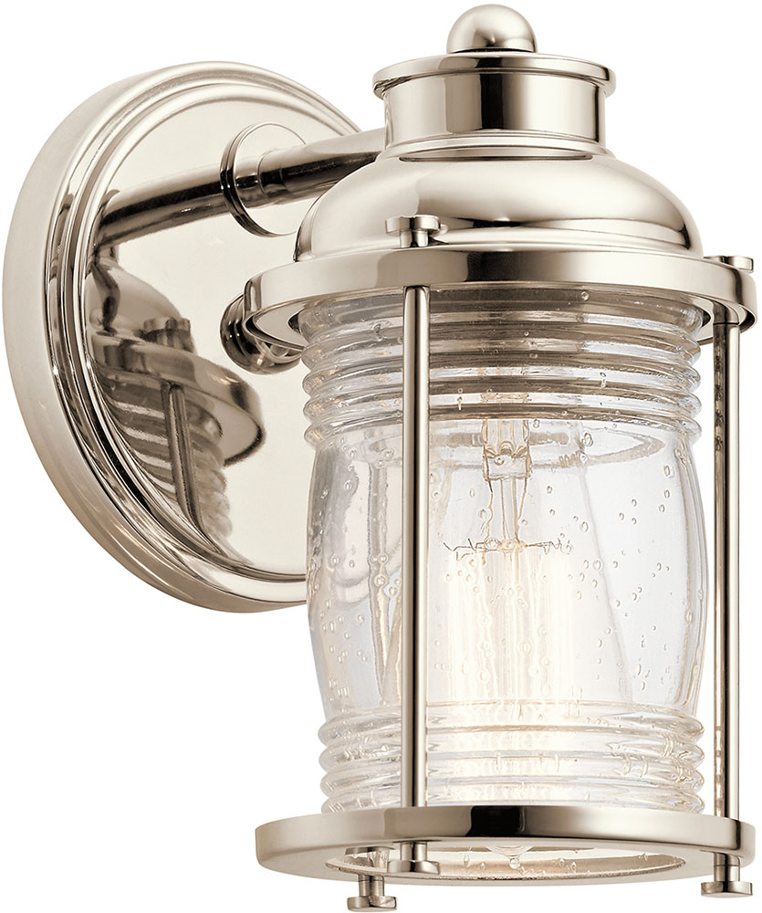 bathroom sconce lighting kichler 45770pn ashland bay polished nickel wall sconce 11237