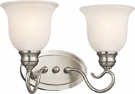 Kichler 45902NIL16 Tanglewood Brushed Nickel LED 2-Light Lighting For Bathroom