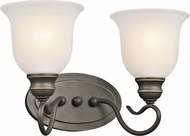 Kichler 45902OZL16 Tanglewood Olde Bronze LED 2-Light Bath Lighting