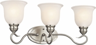 Kichler 45903NIL16 Tanglewood Brushed Nickel LED 3-Light Bathroom Light