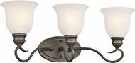 Kichler 45903OZL16 Tanglewood Olde Bronze LED 3-Light Bathroom Lighting Fixture