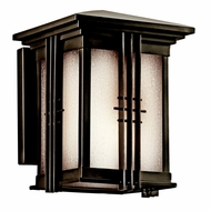 Kichler 49157OZFL Portman Square Olde Bronze Fluorescent Outdoor Small Wall Lighting Fixture