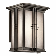 Kichler 49158OZFL Portman Square Olde Bronze Fluorescent Exterior Medium Wall Light Sconce