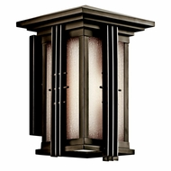 Kichler 49159OZFL Portman Square Olde Bronze Fluorescent Outdoor Large Wall Sconce Light