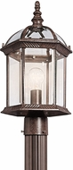 Kichler 49187TZL16 Barrie Traditional Tannery Bronze LED Exterior Post Lamp