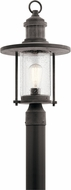 Kichler 49195WZC Riverwood Weathered Zinc Outdoor Post Lamp