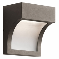 Kichler 49252AZTLED Shelby Modern Textured Architectural Bronze LED Outdoor Wall Lamp