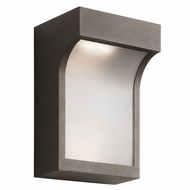 Kichler 49253AZTLED Shelby Contemporary Textured Architectural Bronze LED Exterior Wall Lighting