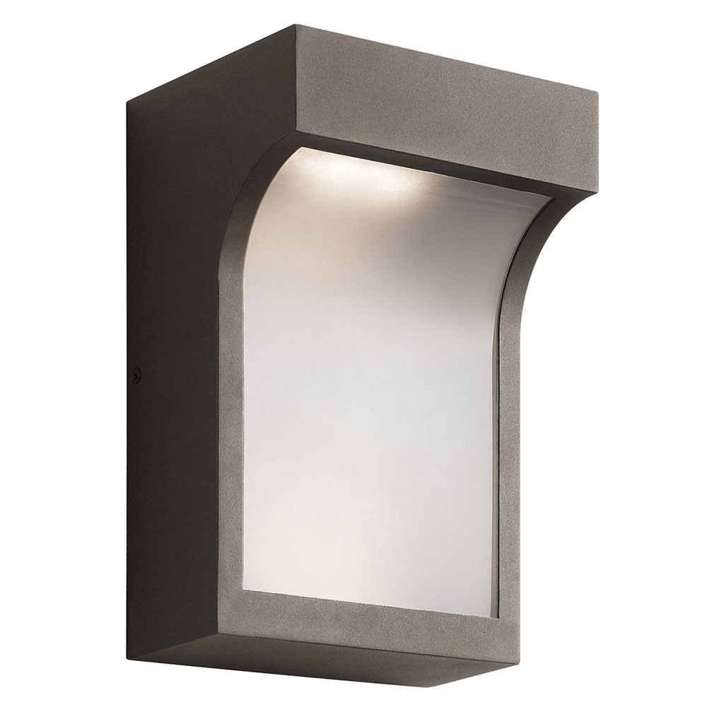 Exterior Wall Lights Architectural : Kichler 49253AZTLED Shelby Contemporary Textured Architectural Bronze LED Exterior Wall Lighting ...