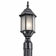 Kichler 49256BKS Chesapeake Traditional Black Exterior Post Lighting