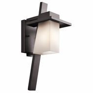 Kichler 49257AZFL Stonebrook Modern Architectural Bronze Fluorescent Outdoor Small Light Sconce