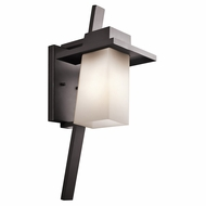 Kichler 49258AZFL Stonebrook Contemporary Architectural Bronze Fluorescent Exterior Medium Lighting Sconce
