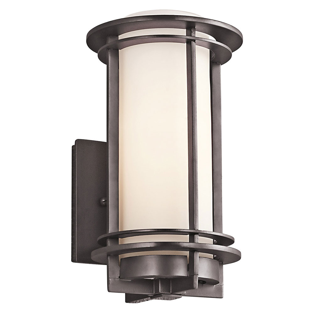 Fluorescent Exterior Wall Lights : Kichler 49344AZFL Pacific Edge Architectural Bronze Fluorescent Outdoor Small Wall Sconce ...