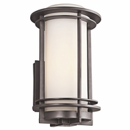 Kichler 49345AZFL Pacific Edge Architectural Bronze Fluorescent Exterior Medium Wall Light Fixture