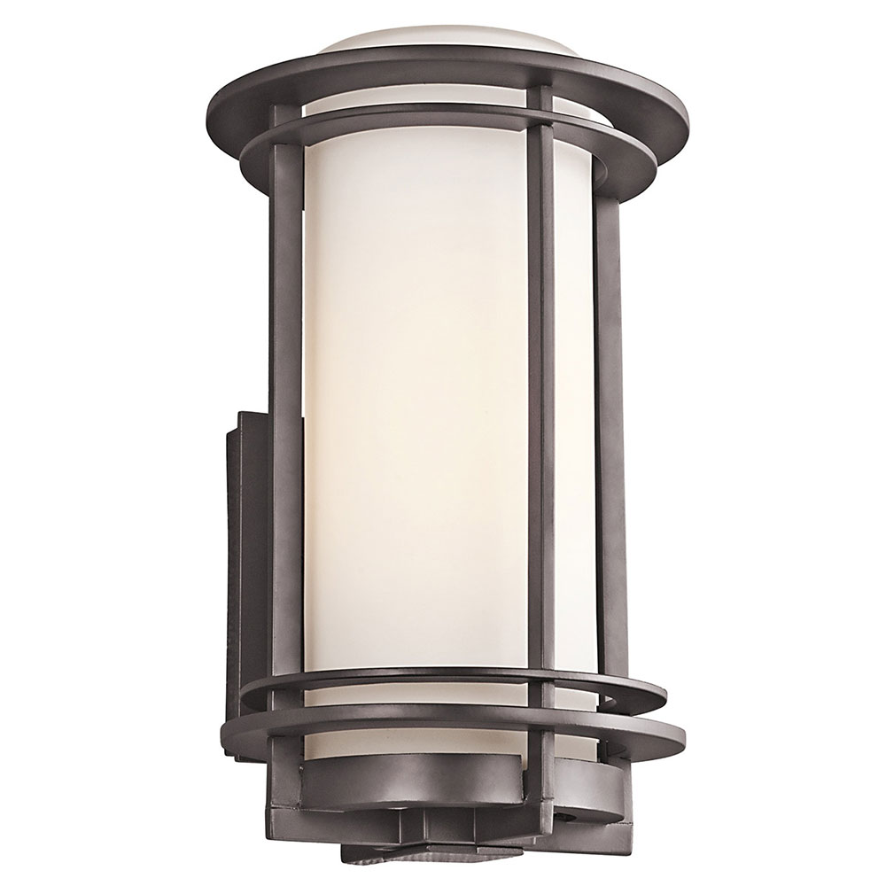 Kichler 49345azfl Pacific Edge Architectural Bronze Fluorescent Exterior Medium Wall Light