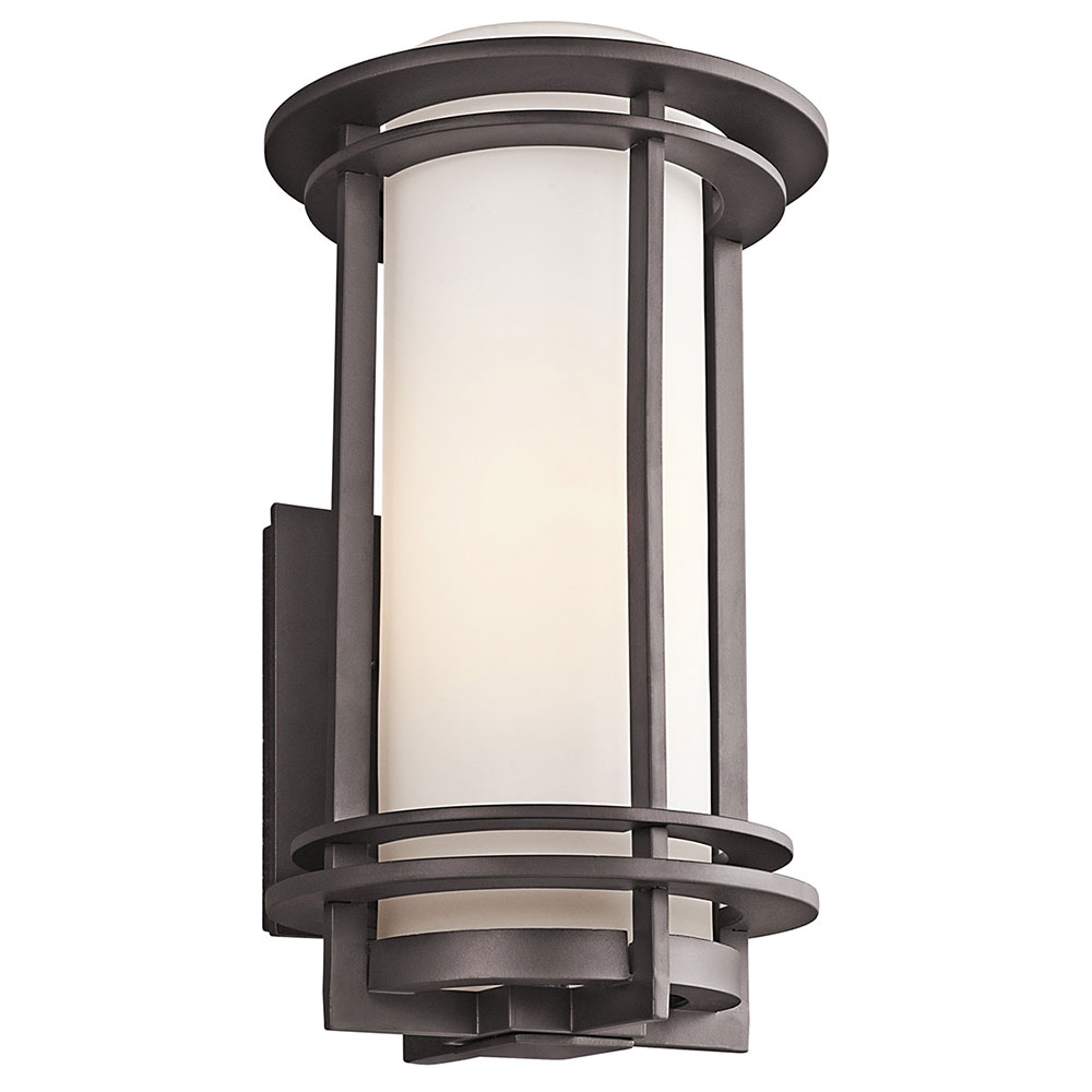 Kichler 49346AZFL Pacific Edge Architectural Bronze Fluorescent Outdoor Large Lighting Wall ...