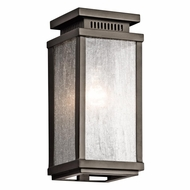 Kichler 49384OZ Manningham Traditional Olde Bronze Finish 5  Wide Outdoor Wall Light Fixture