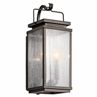 Kichler 49385OZ Manningham Traditional Olde Bronze Finish 18.75  Tall Exterior Lighting Wall Sconce