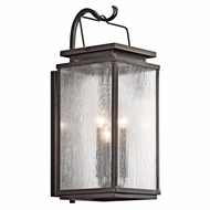 Kichler 49386OZ Manningham Traditional Olde Bronze Finish 9  Wide Outdoor Wall Lighting Sconce