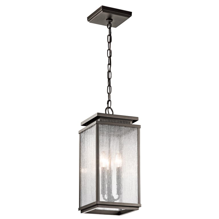 Kichler 49387oz Manningham Traditional Olde Bronze Finish 19 Tall Exterior Mini Hanging Light