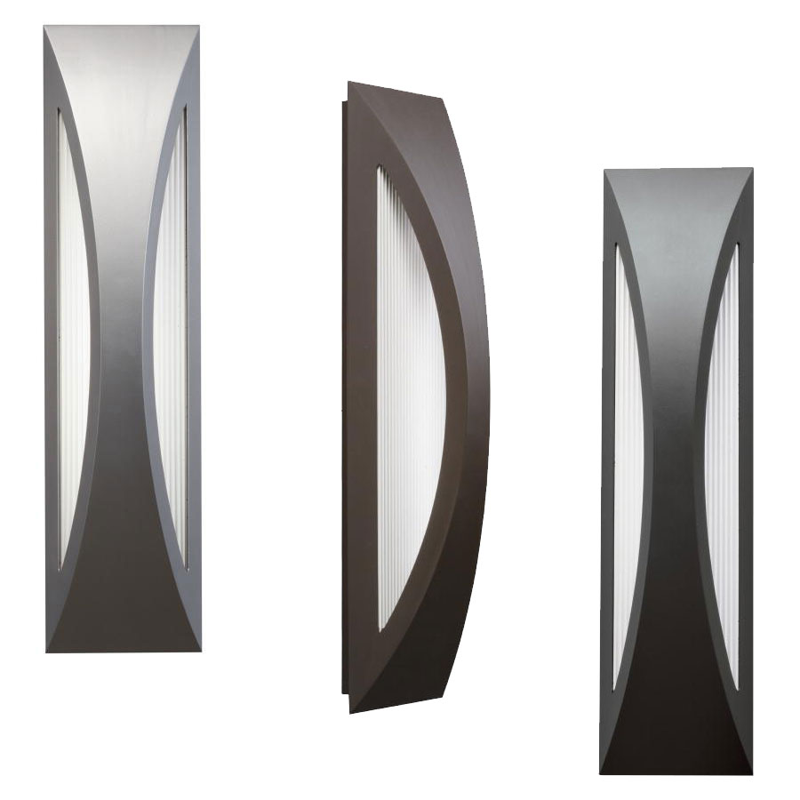 exterior modern lighting. kichler 49437 cesya modern 24\u0026nbsp; tall led exterior wall lighting fixture. loading zoom