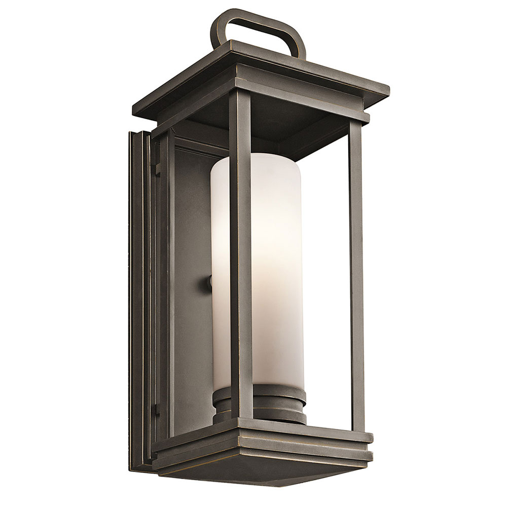Fluorescent Exterior Wall Lights : Kichler 49475RZFL South Hope Rubbed Bronze Fluorescent Exterior Medium Wall Lighting Sconce ...