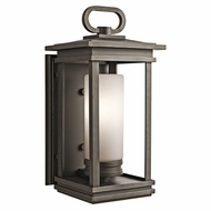 Kichler 49476RZFL South Hope Rubbed Bronze Fluorescent Outdoor Large Wall Sconce Lighting