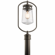Kichler 49497AZ Lyndon Architectural Bronze Outdoor Post Lamp