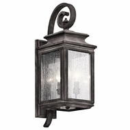 Kichler 49502WZC Wiscombe Park Traditional Weathered Zinc Finish 7.5  Wide Outdoor Wall Light Fixture