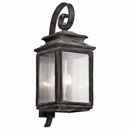 Kichler 49504WZC Wiscombe Park Traditional Weathered Zinc Finish 11  Wide Outdoor Wall Lighting Sconce
